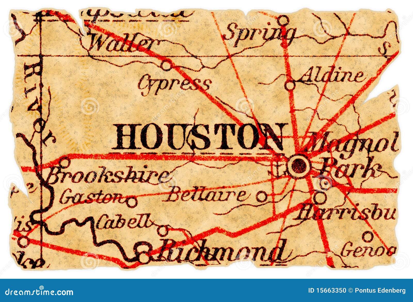 Houston-alte Karte