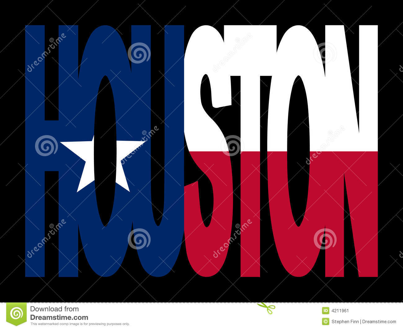 Houston com bandeira do Texan