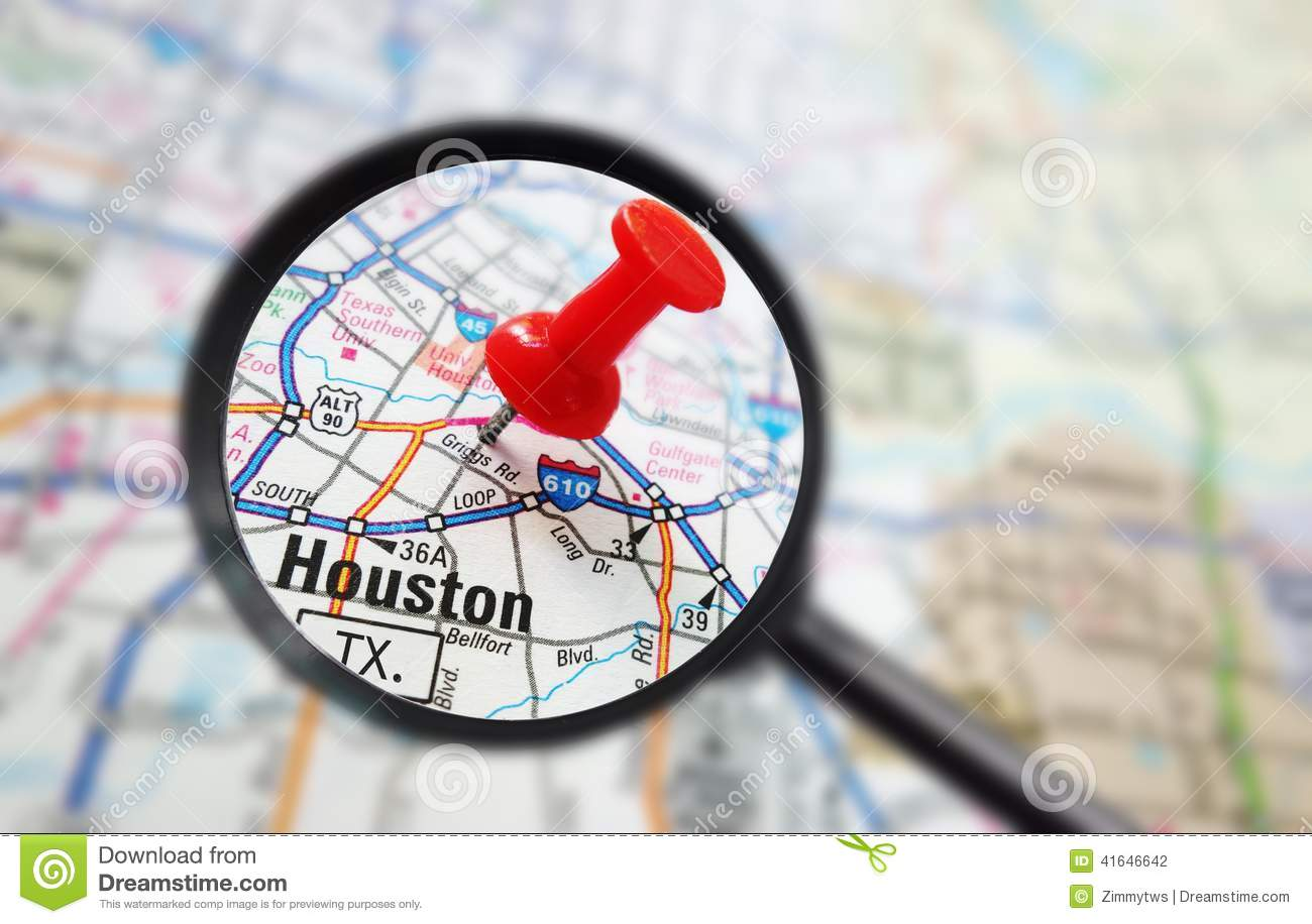 Download comp Houston map stock photo Image