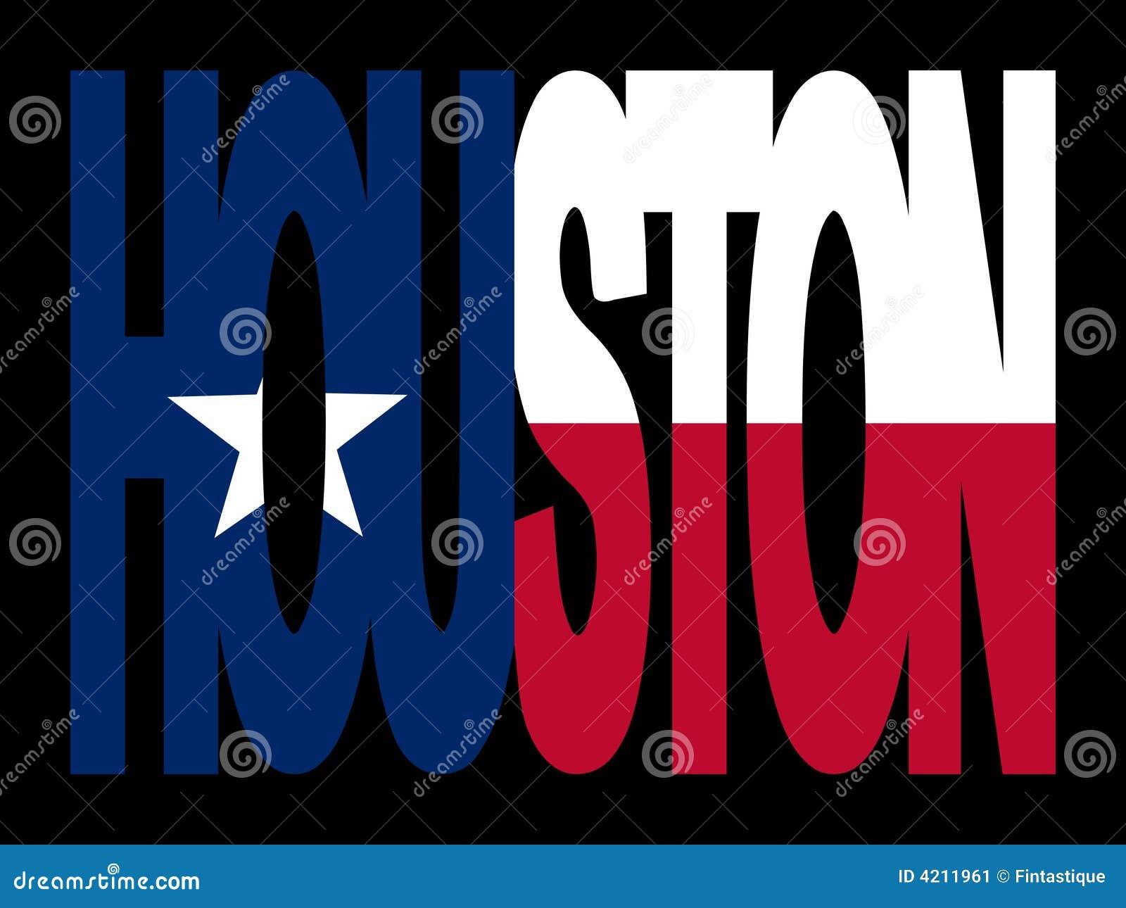 Houston mit Texanflagge