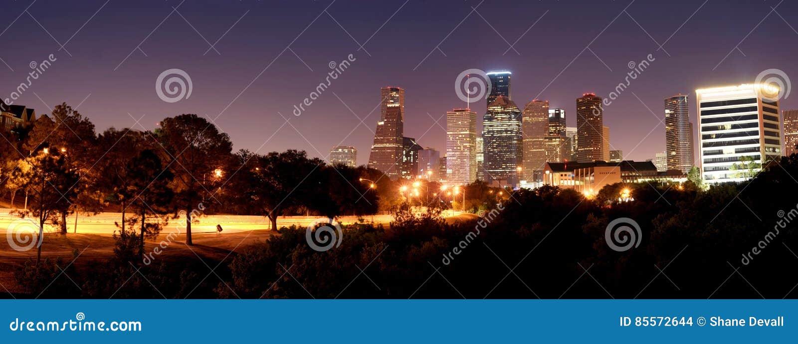 Houston Night Panorama