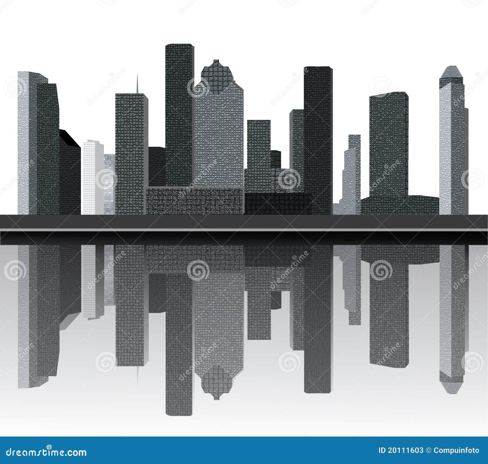 Skyline Apartments Houston: Houston Skyline Stock Illustration. Illustration Of City