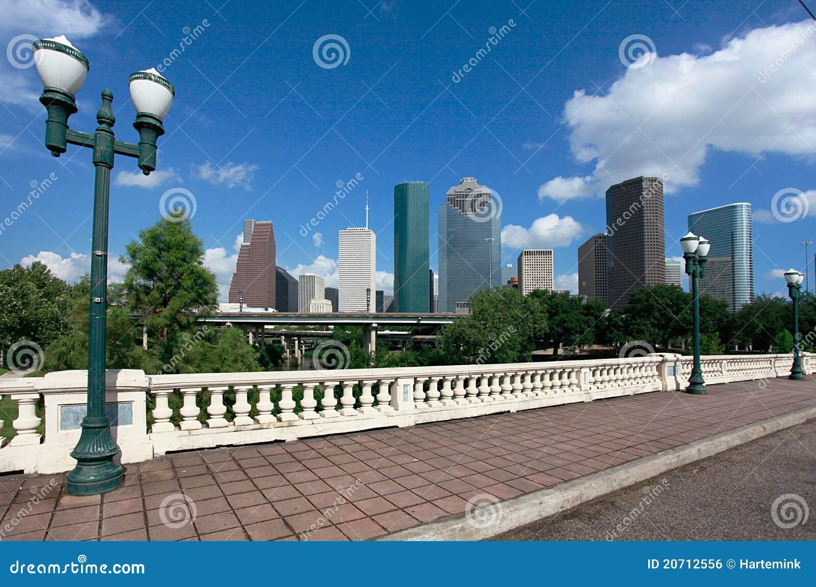 Houston skyline as seen from Sabine Street Bridge