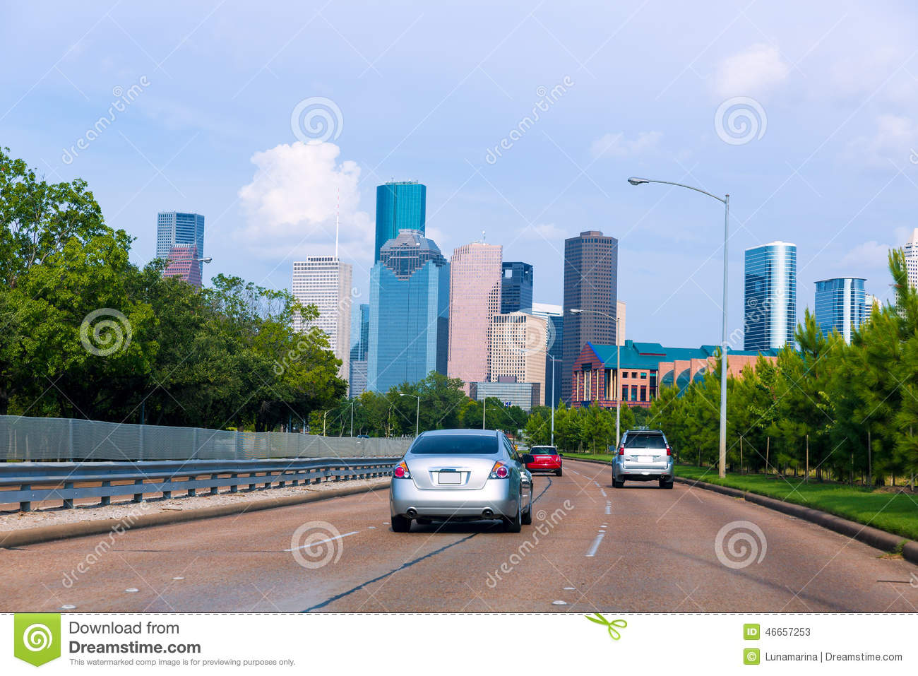 Buffalo (TX) United States  city photos gallery : Houston Skyline From Buffalo Bayou Pkwy Texas US Stock Photo Image ...