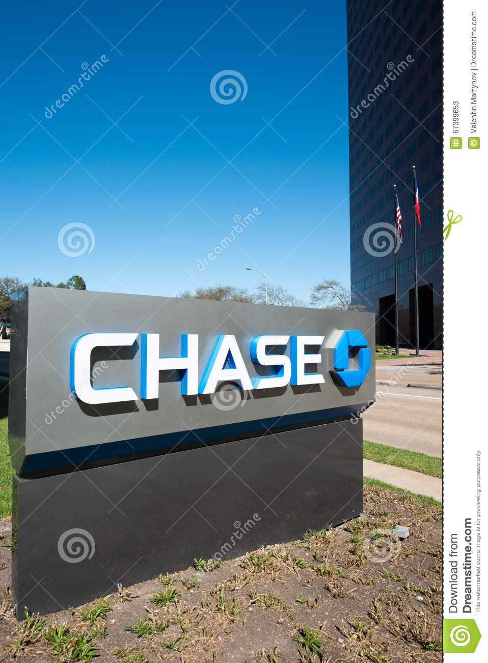 HOUSTON, TEXAS - FEBRUARY 2016: JPMorgan Chase Bank Stand With T ...