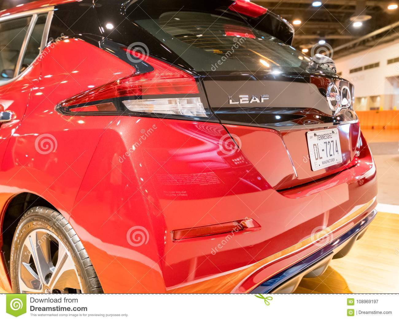 New Nissan LEAF Electric Car Editorial Photography Image Of - Houston car show 2018