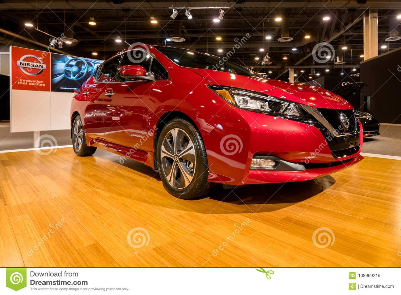 New Nissan LEAF Electric Car Editorial Photo Image Of - Houston car show 2018