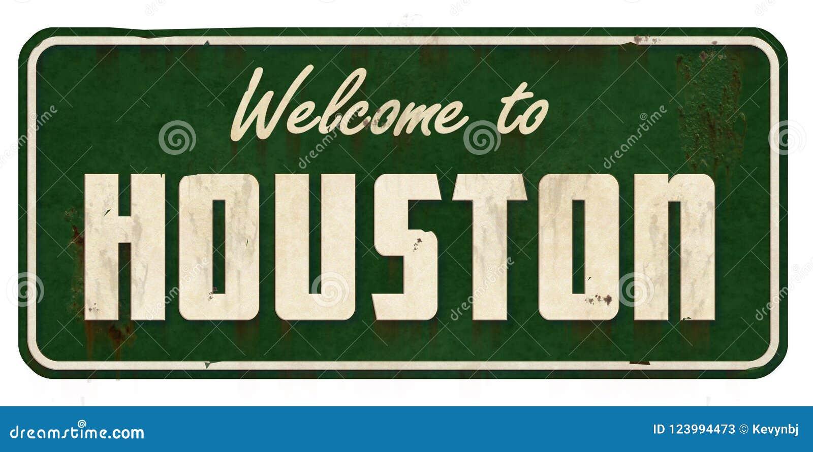 Houston Texas Road Sign Grunge