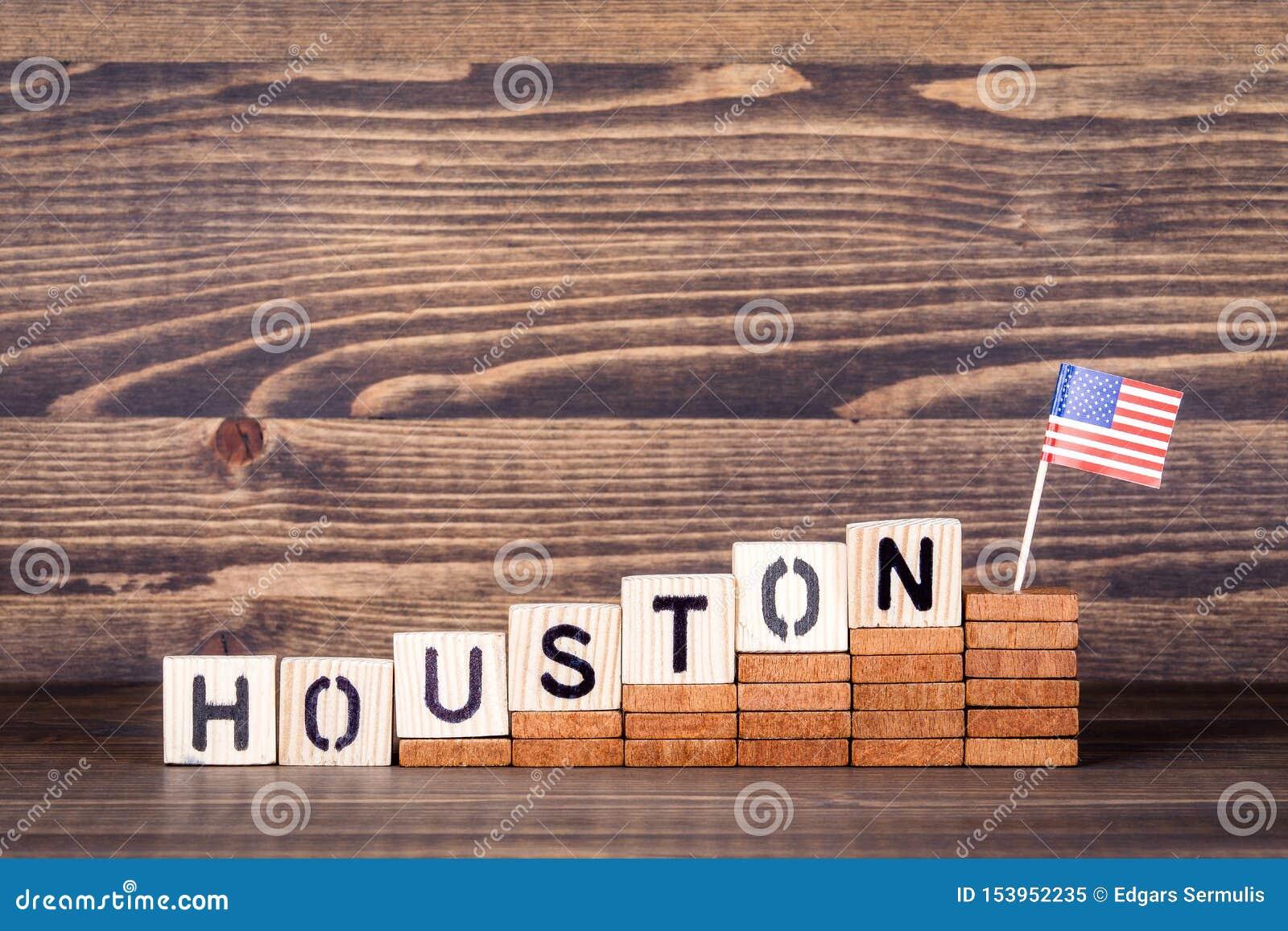 Houston United States Concepto de la política, económico y de la inmigración