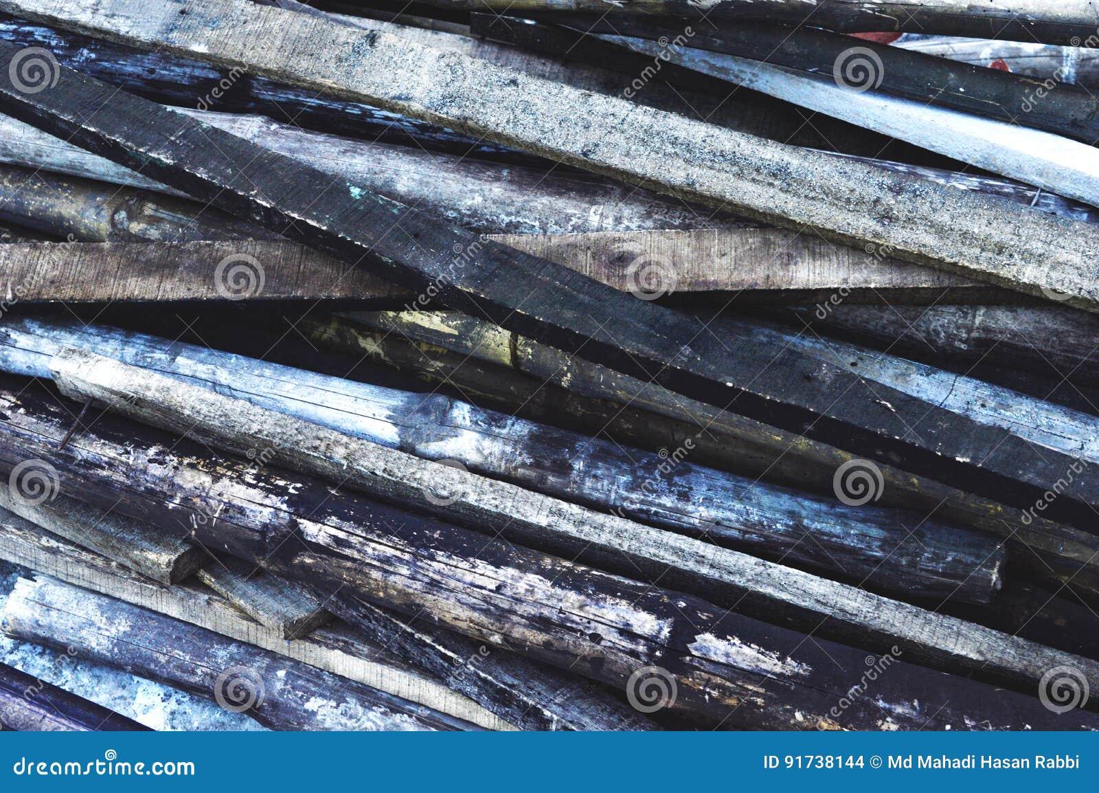 Hout en Bamboeachtergrond