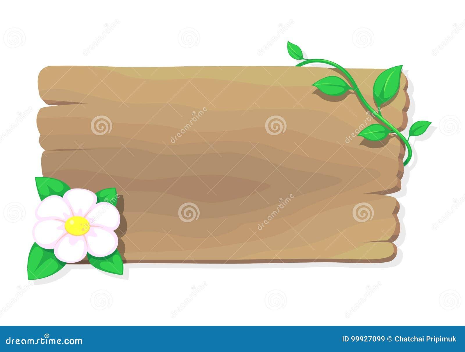 Hout en bloem, vector