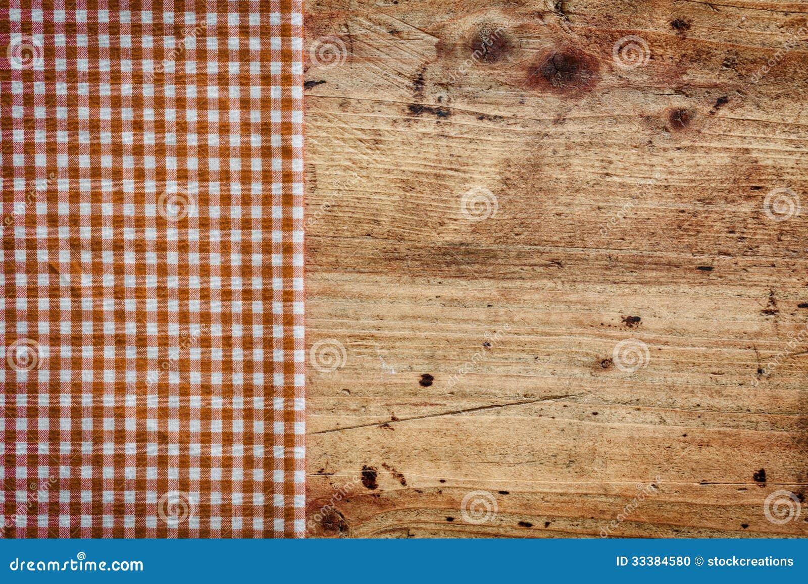 Houten achtergrond met gecontroleerd servet stock foto afbeelding 33384580 - Hoek maaltijd ...