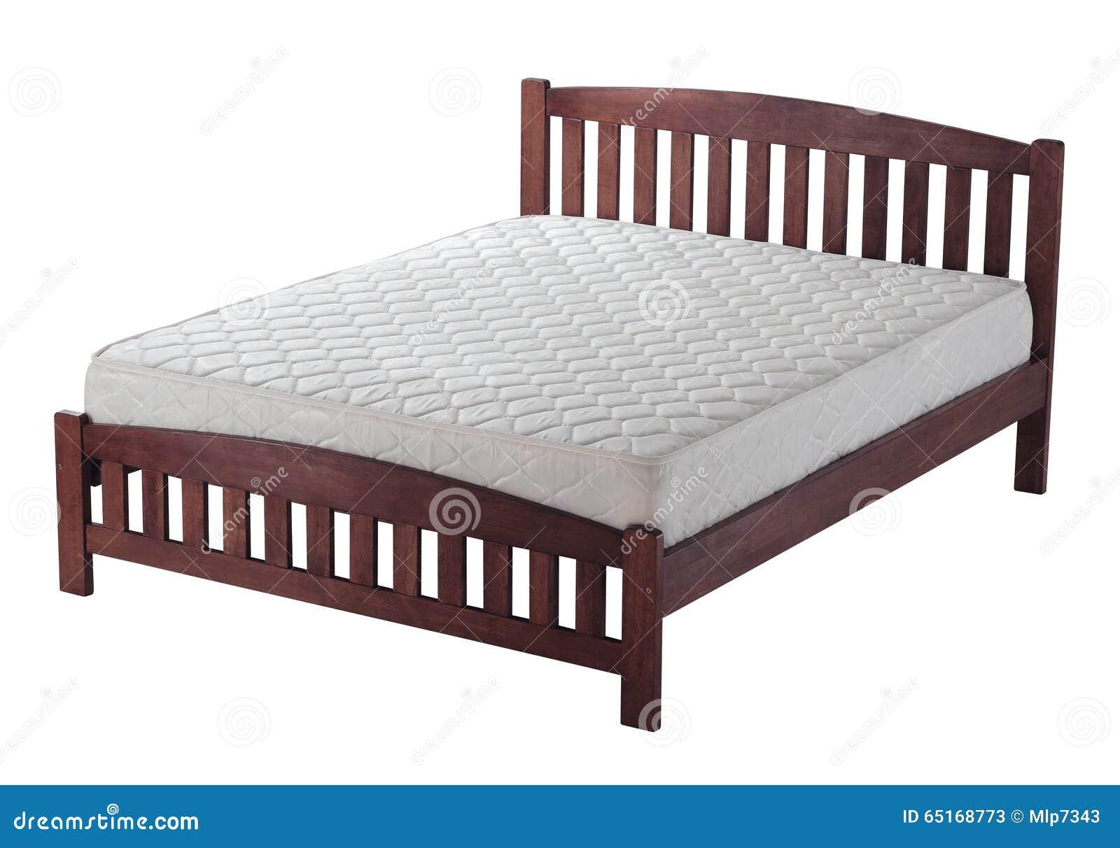 Bed Met Matras : Houten bed met matras stock afbeelding afbeelding bestaande uit