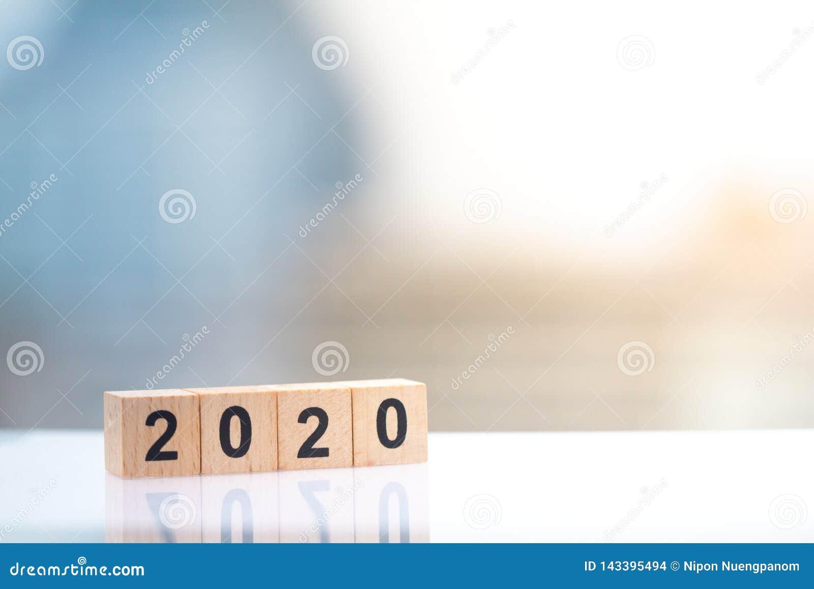 Houten blokaantal jaar 2020