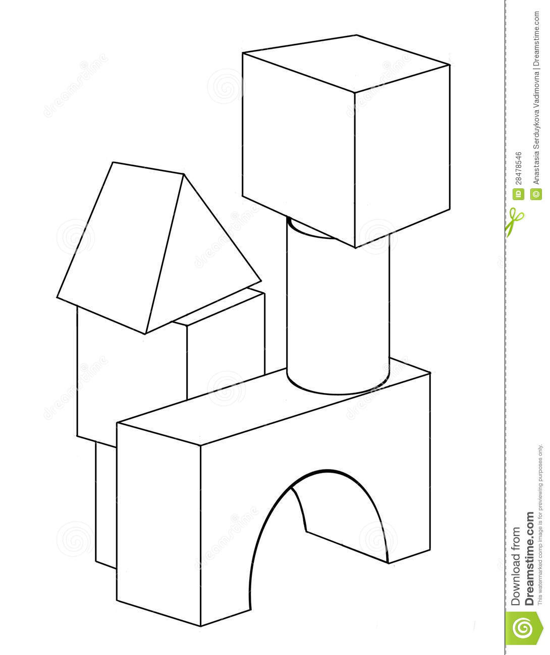 free printable blocks coloring pages - photo#8