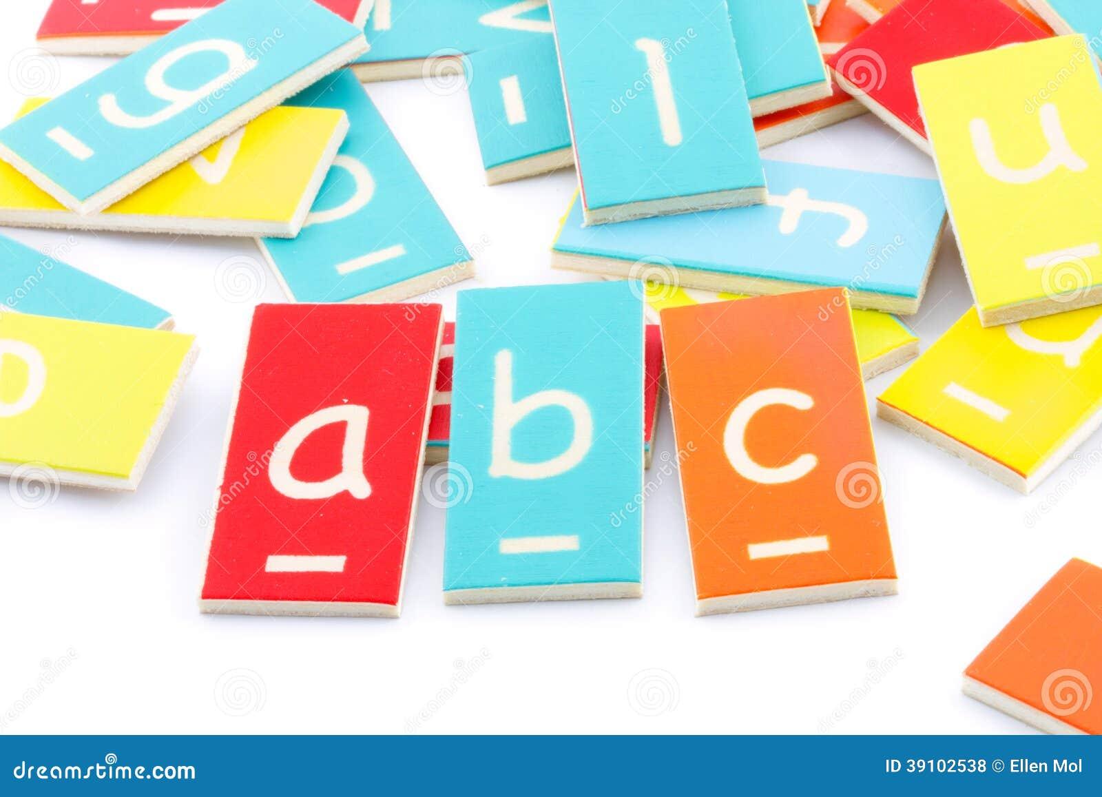 Houten brieven abc
