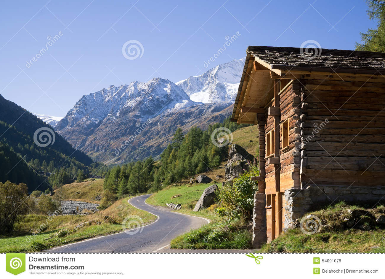 Houten Cabine in Bergvallei