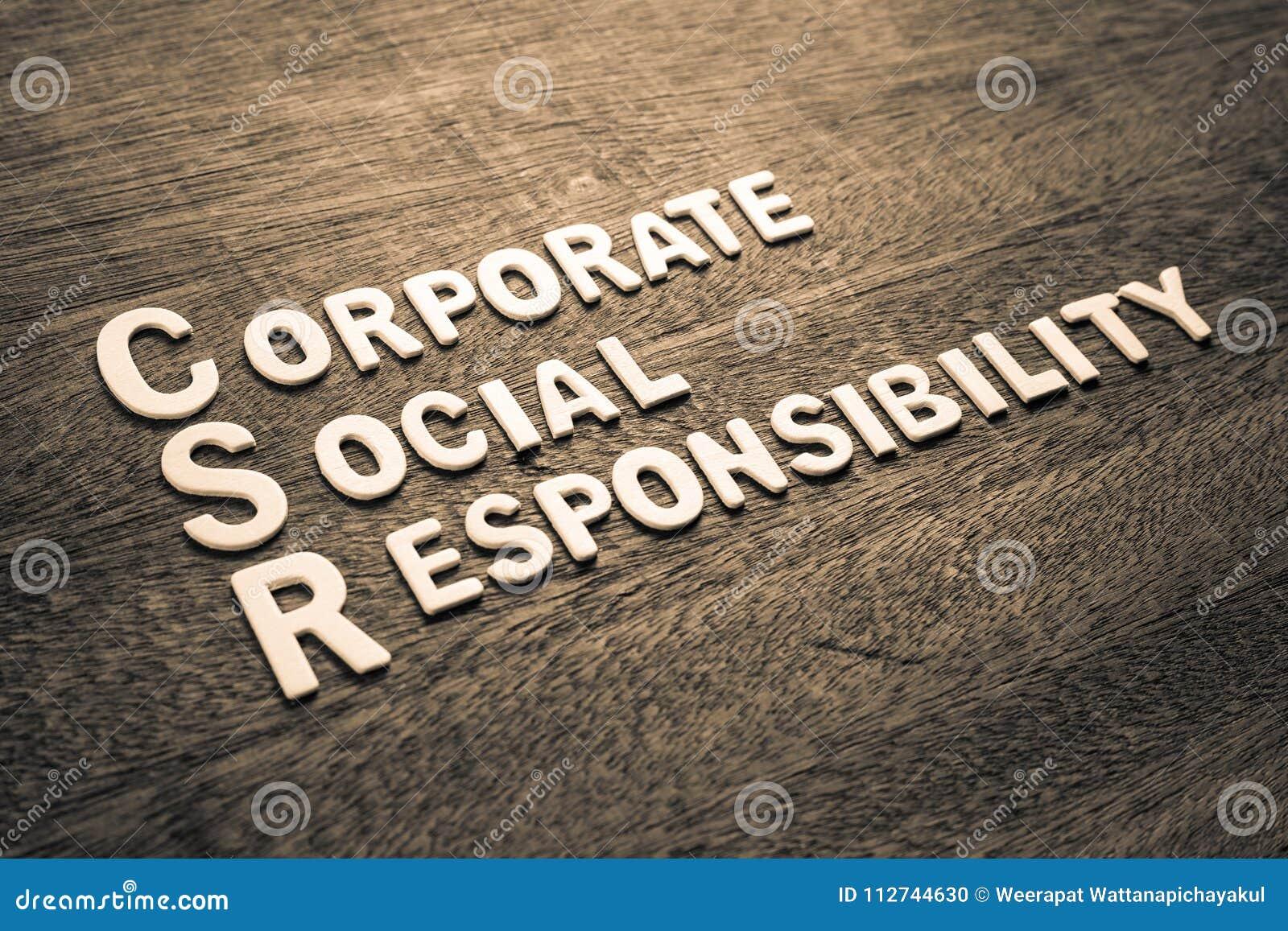 Houten de Brieven Collectieve Sociale Verantwoordelijkheid van CSR