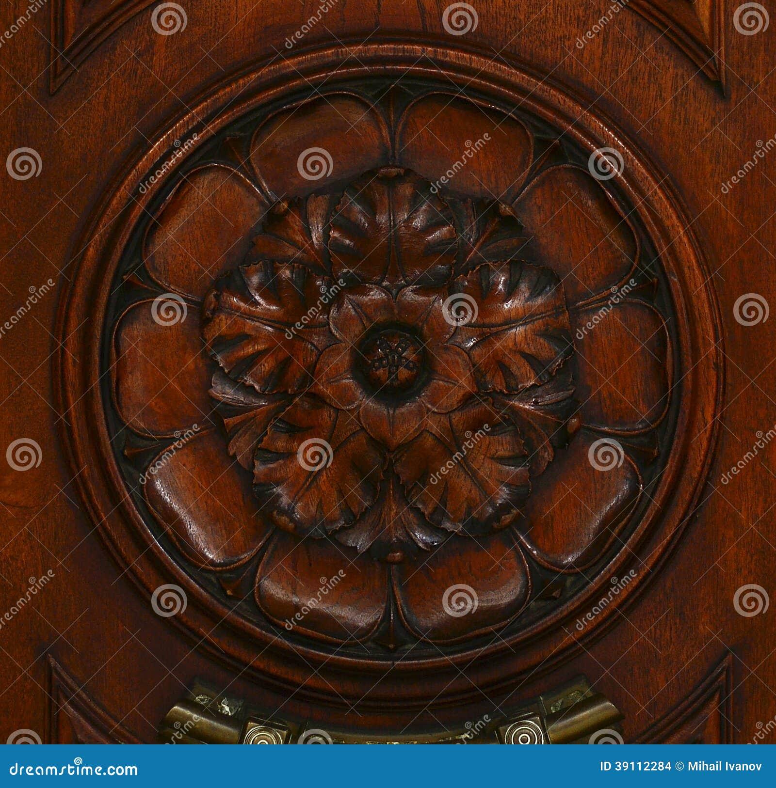 Houten Decoratie (abstract aardpatroon)
