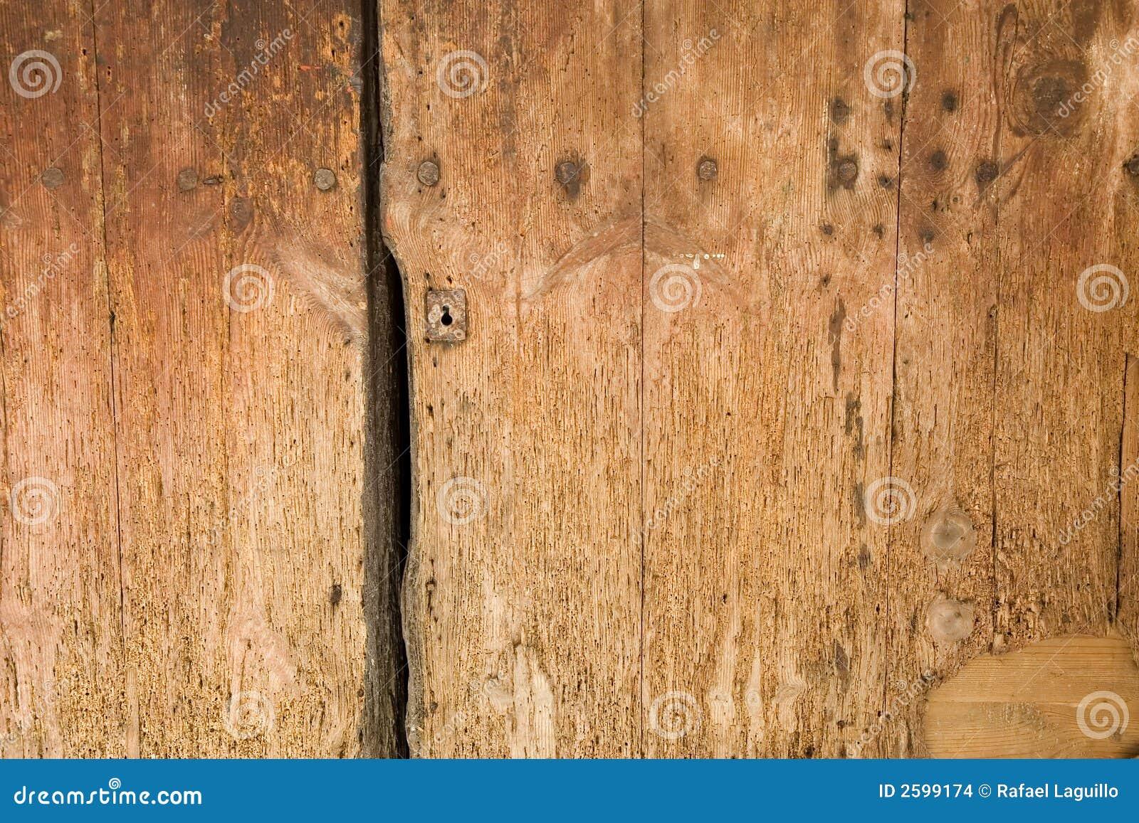 Houten deurdetail
