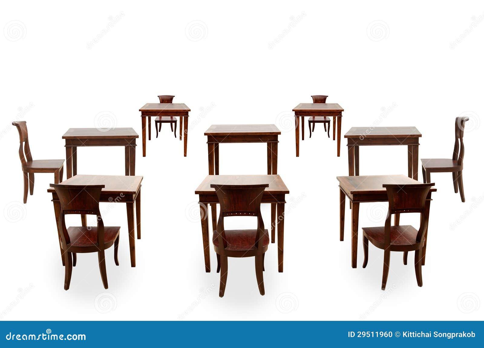 Houten geïsoleerder stoel en lijst