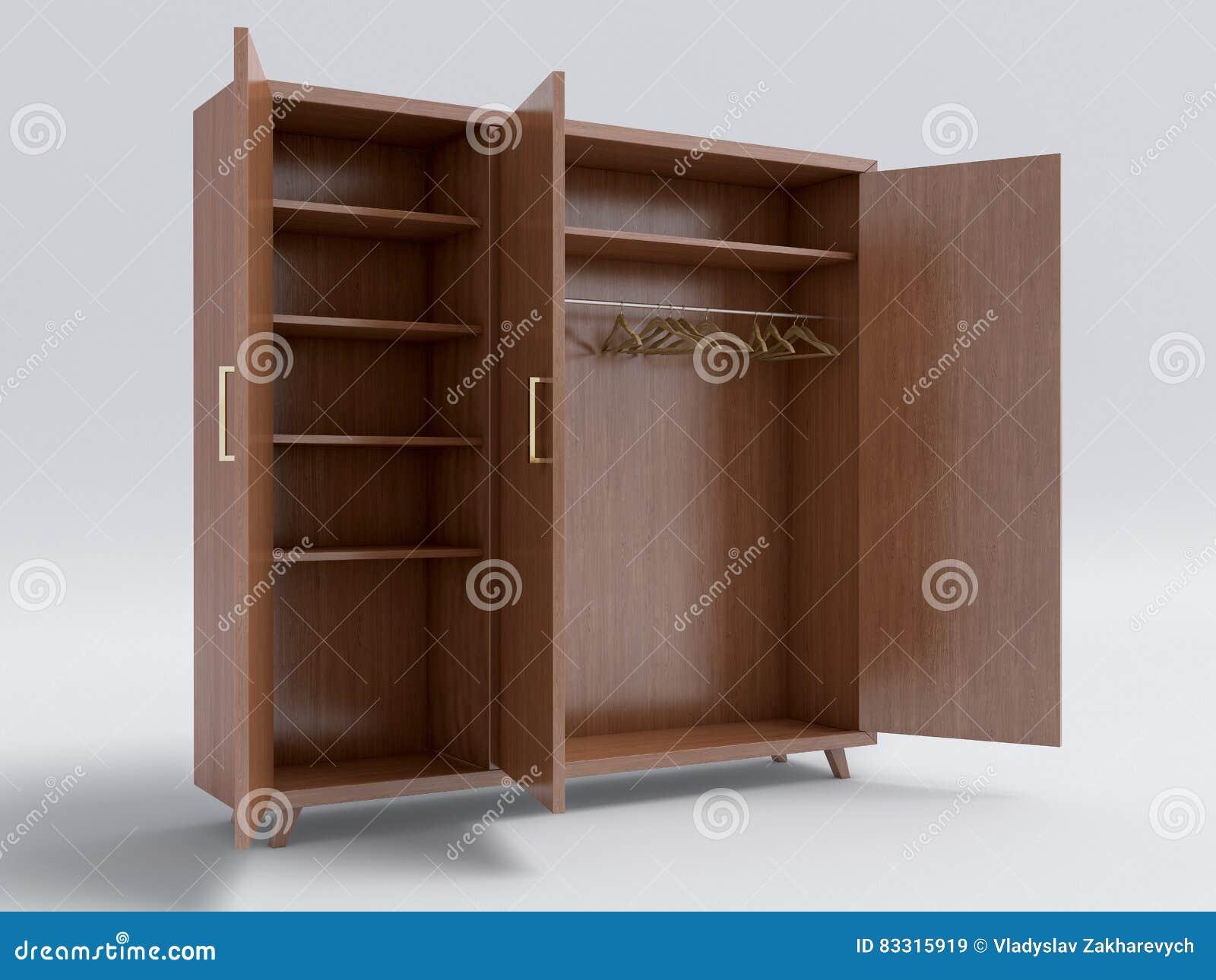 Houten Open Kast : Houten grote open kast stock illustratie illustratie bestaande