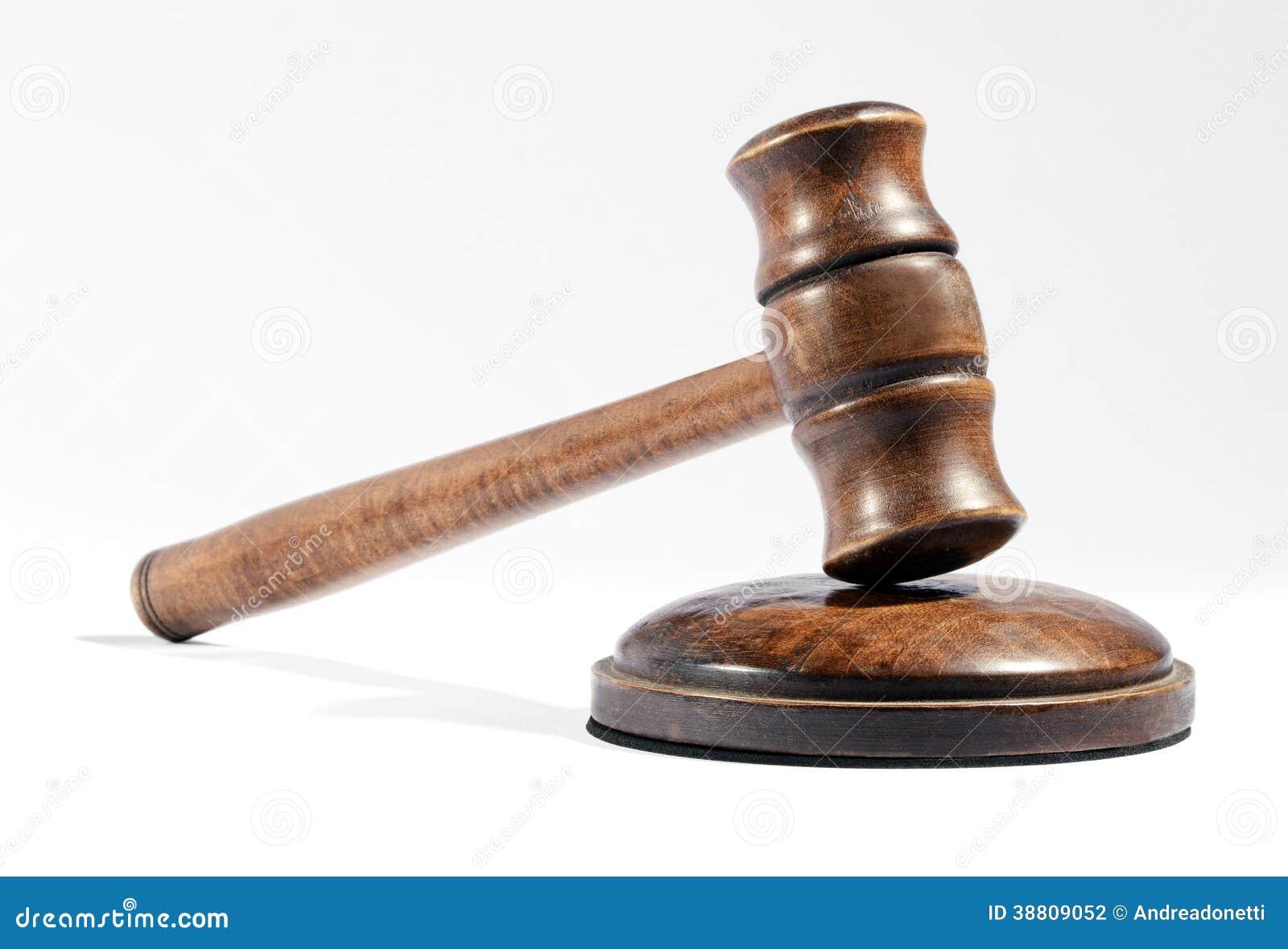 houten hamer zoals die door een rechter of een veilingmeester wordt gebruikt stock foto. Black Bedroom Furniture Sets. Home Design Ideas