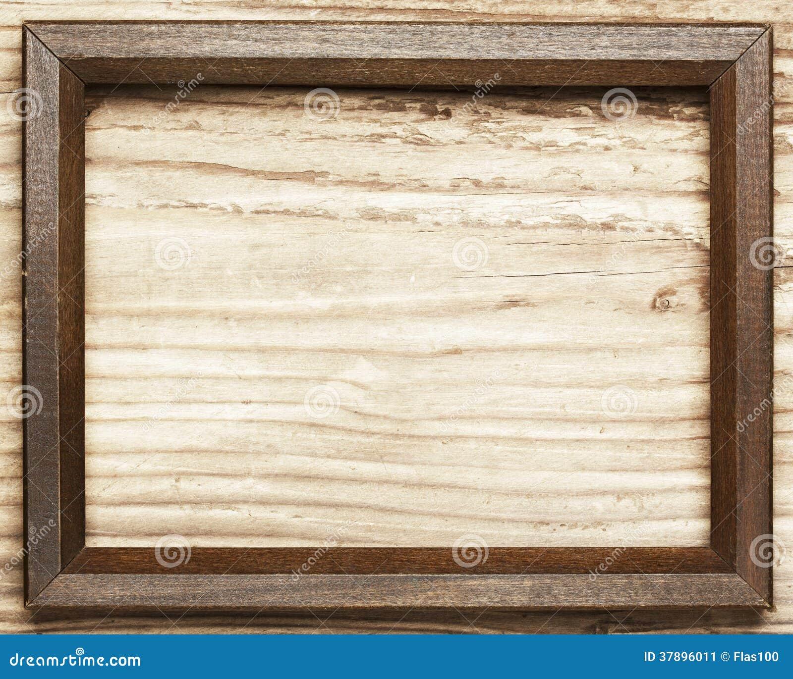 Houten kader op houten achtergrond