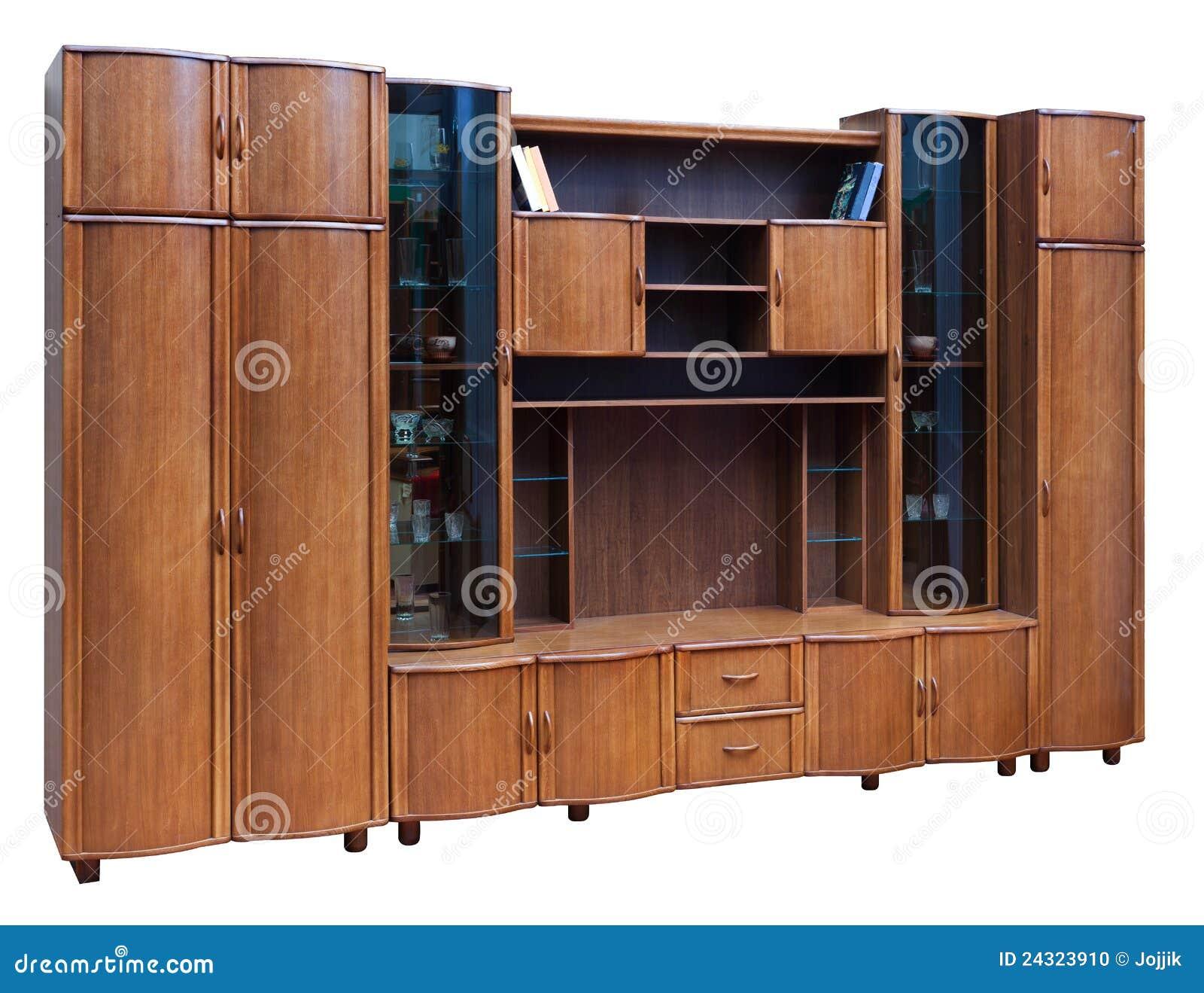 Kast Met Glasdeuren.Houten Kast Met Glasdeuren Stock Foto Afbeelding Bestaande Uit