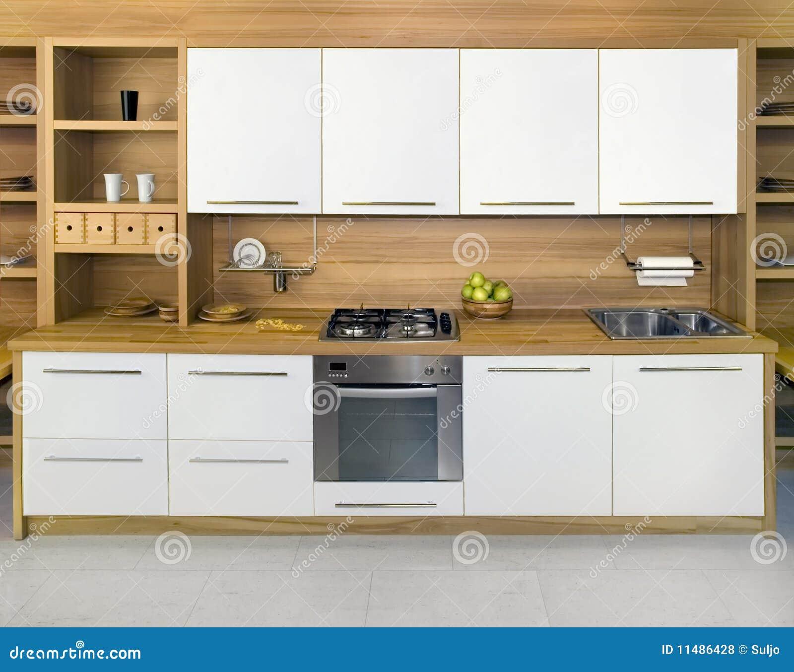 Gele keuken royalty vrije stock afbeelding   afbeelding: 7817806