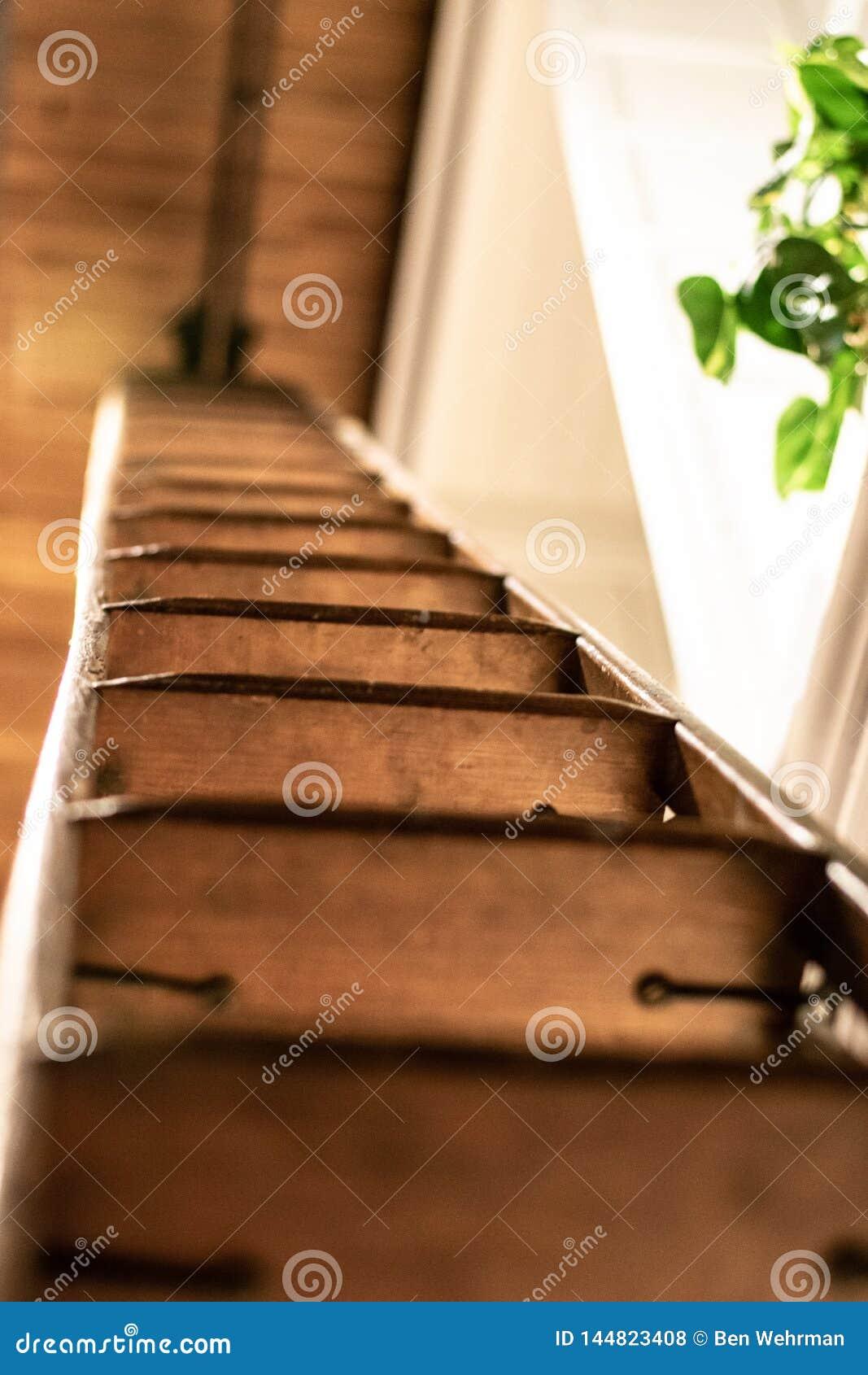 Houten ladderdetail
