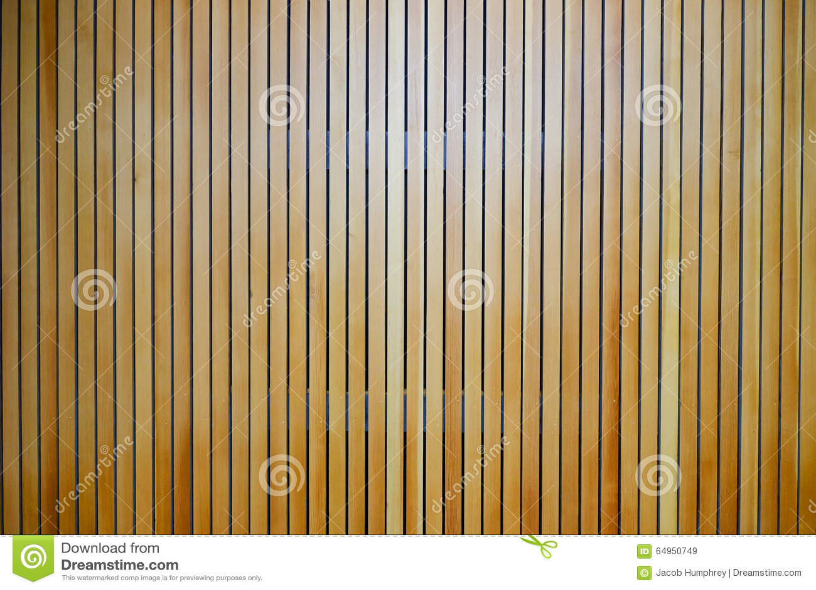 Houten Latjes Op Een Muur Stock Foto - Afbeelding: 64950749