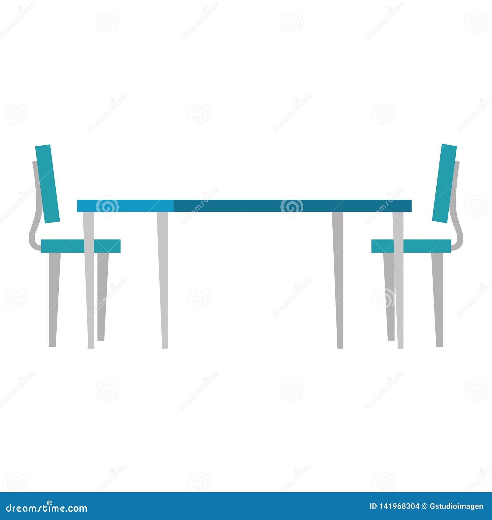 Houten lijst met stoelen