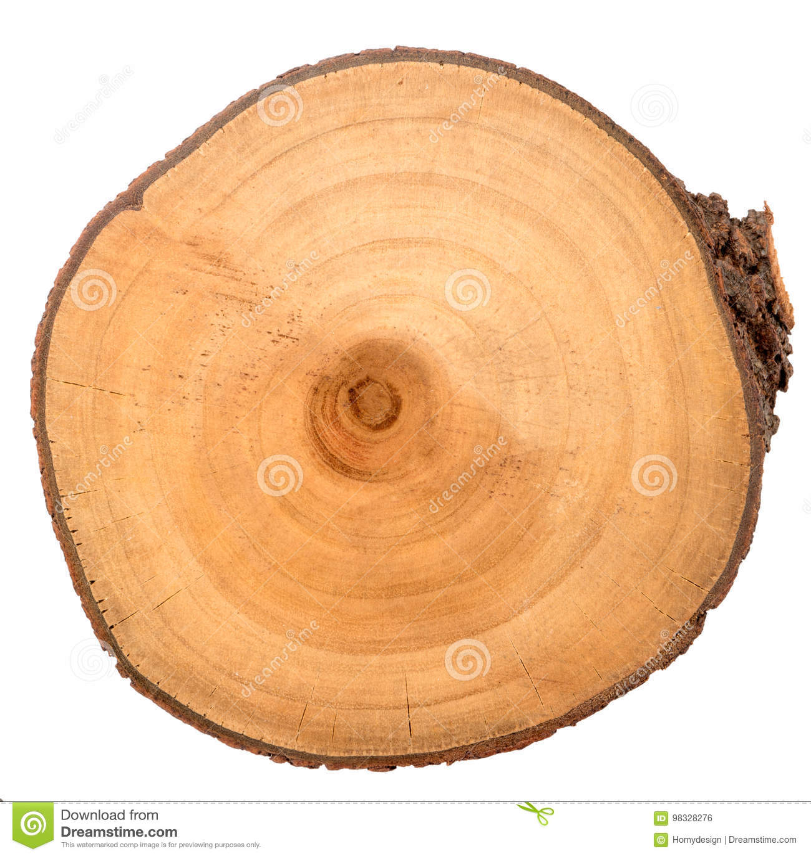 Houten logboekplak