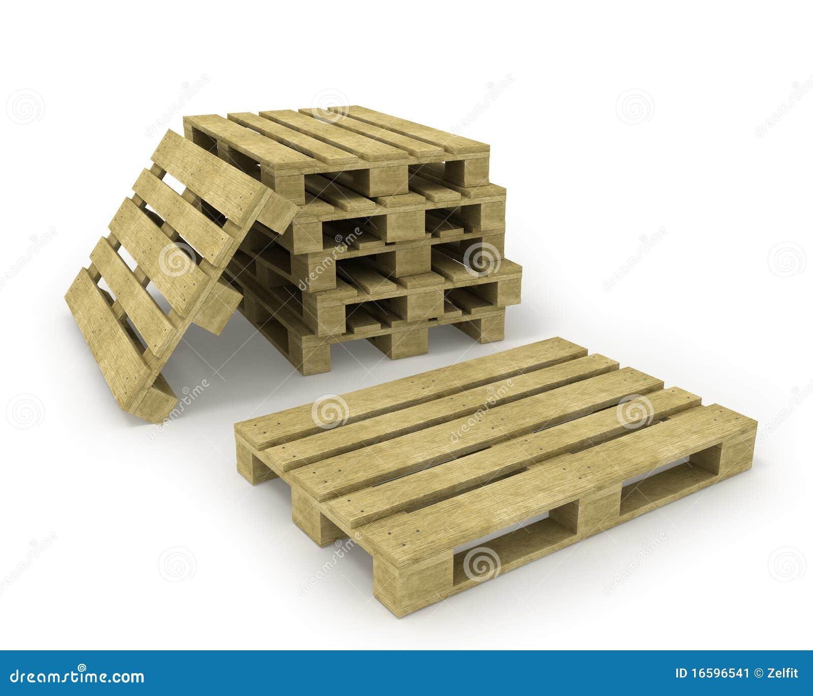Houten pallet en stapel pallets stock illustratie afbeelding 16596541 - Foto houten pallet ...