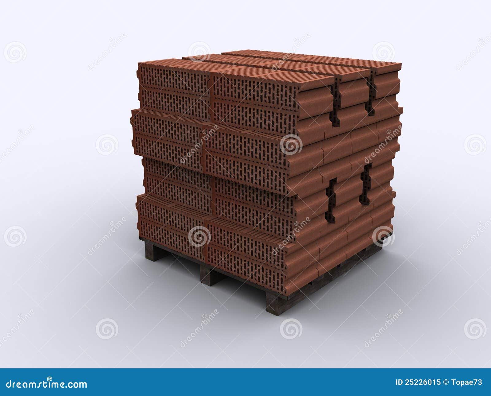 Houten pallet witte bakstenen stock illustratie afbeelding 25226015 - Foto houten pallet ...