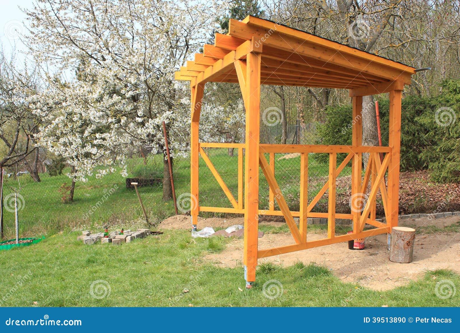 Houten pergola stock foto afbeelding 39513890 - Pergola houten ...