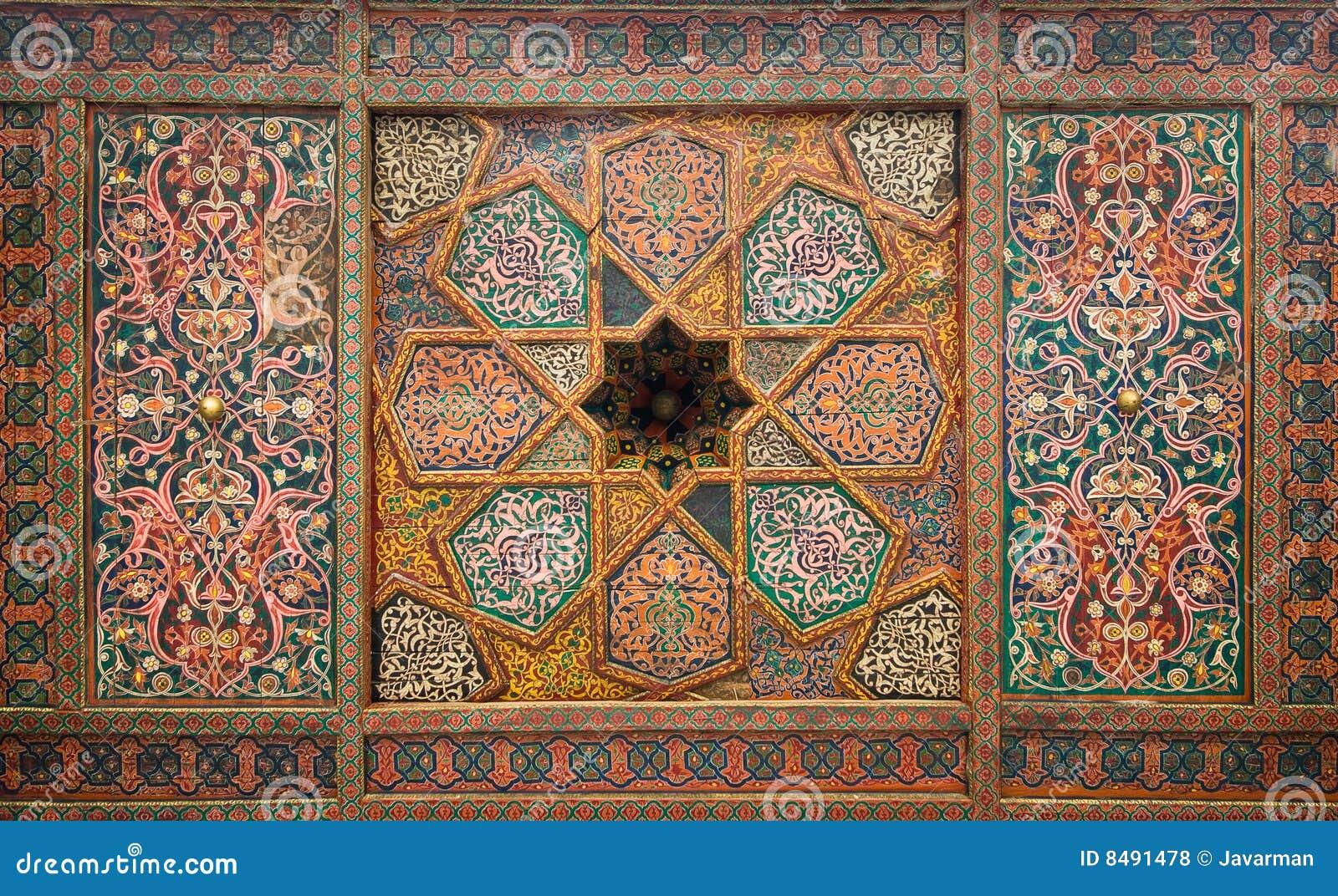 Houten plafond oosterse ornamenten van khiva royalty vrije stock foto 39 s afbeelding 8491478 - Oosterse tegels ...