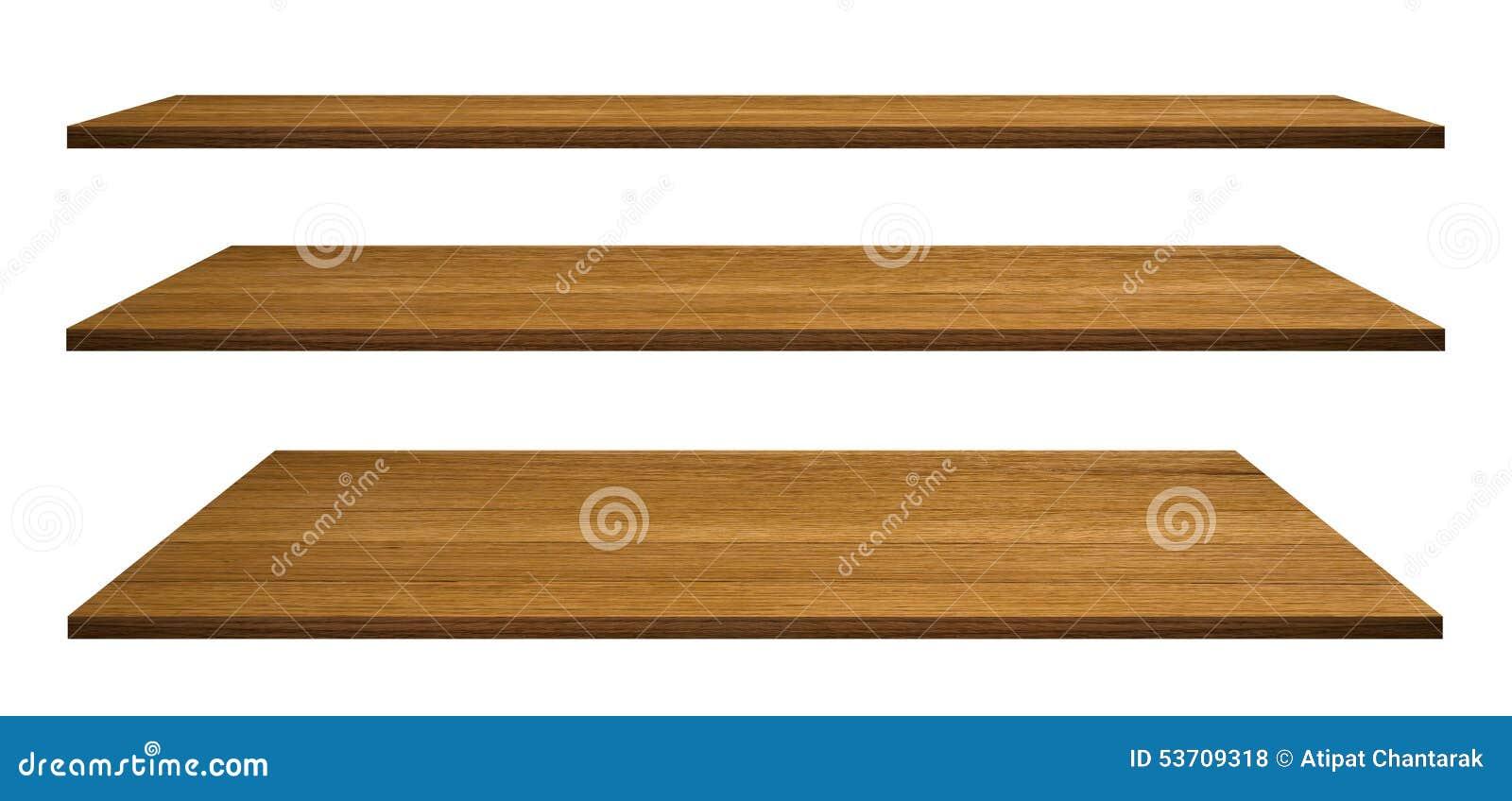 Houten planken die op wit worden geïsoleerd