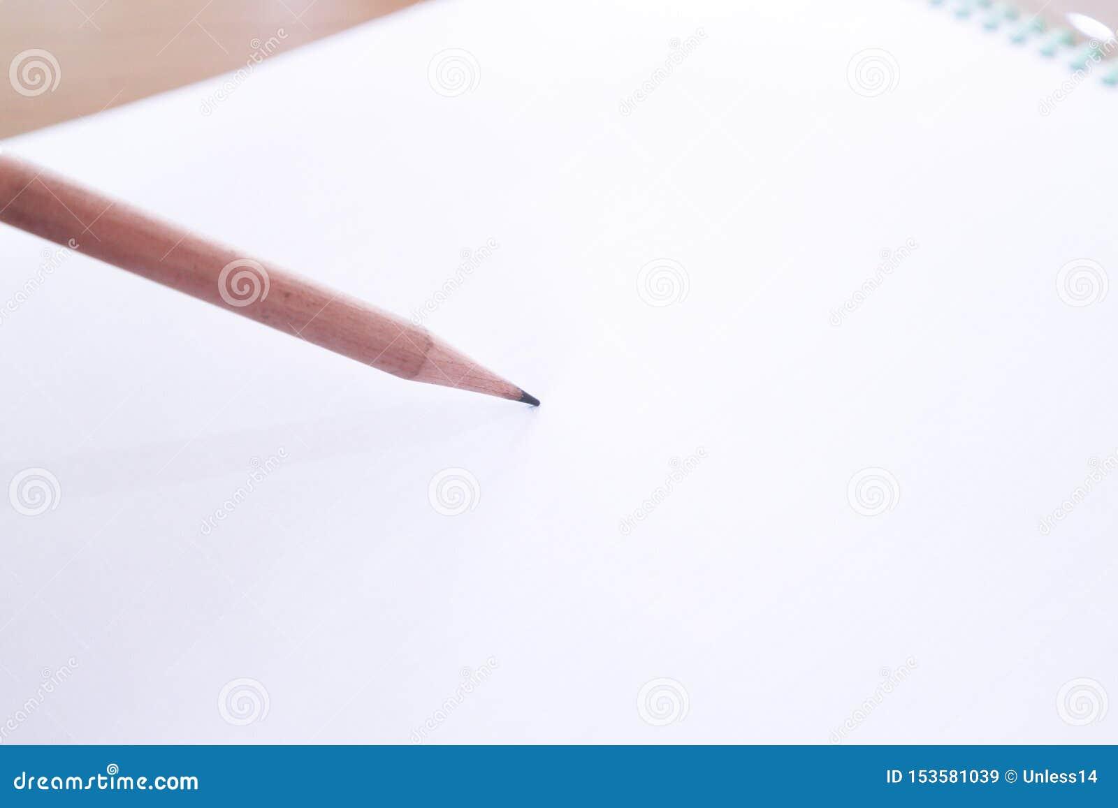 Houten potlood en duidelijk document