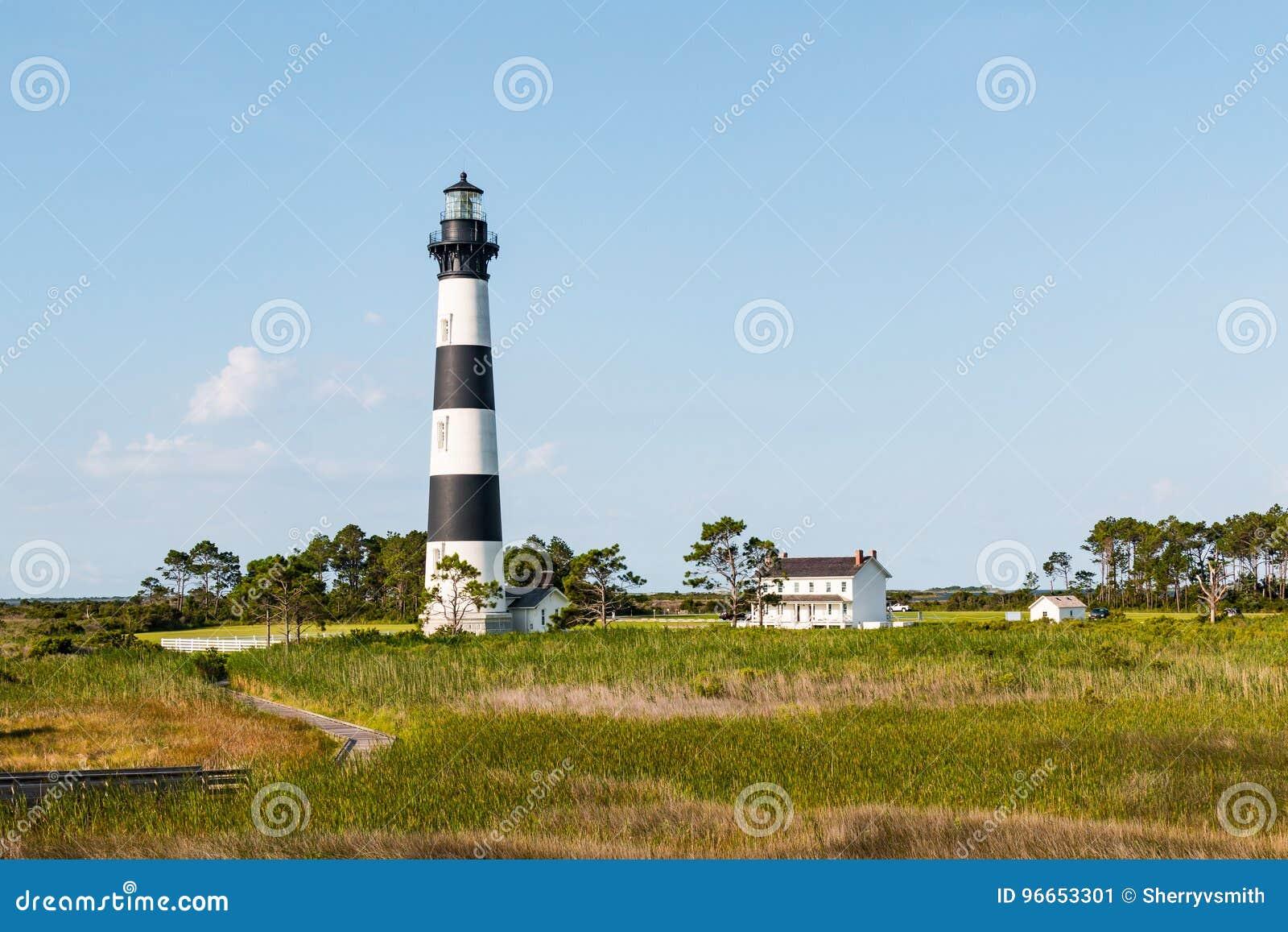 Houten Promenadesleep door Moerasland aan Bodie Island Lighthouse