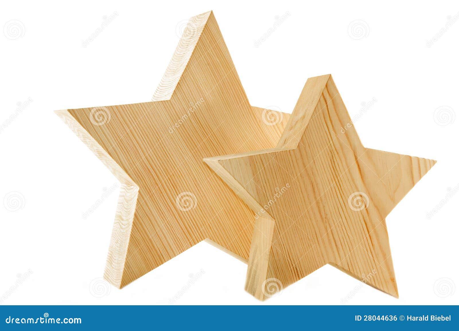 Houten sterren als decoratie x 39 mas royalty vrije stock for Houten decoratie