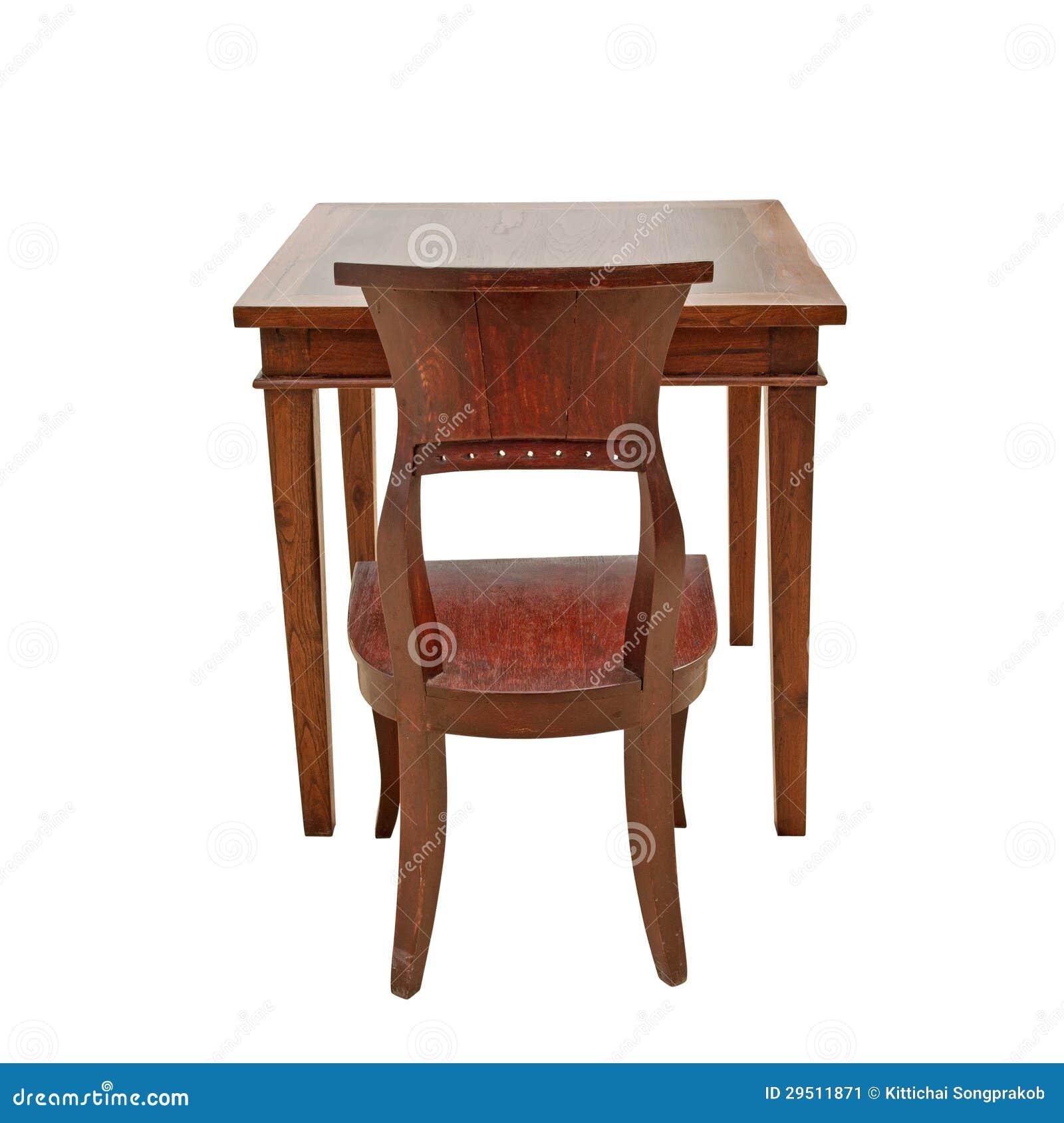 Houten stoel en lijst