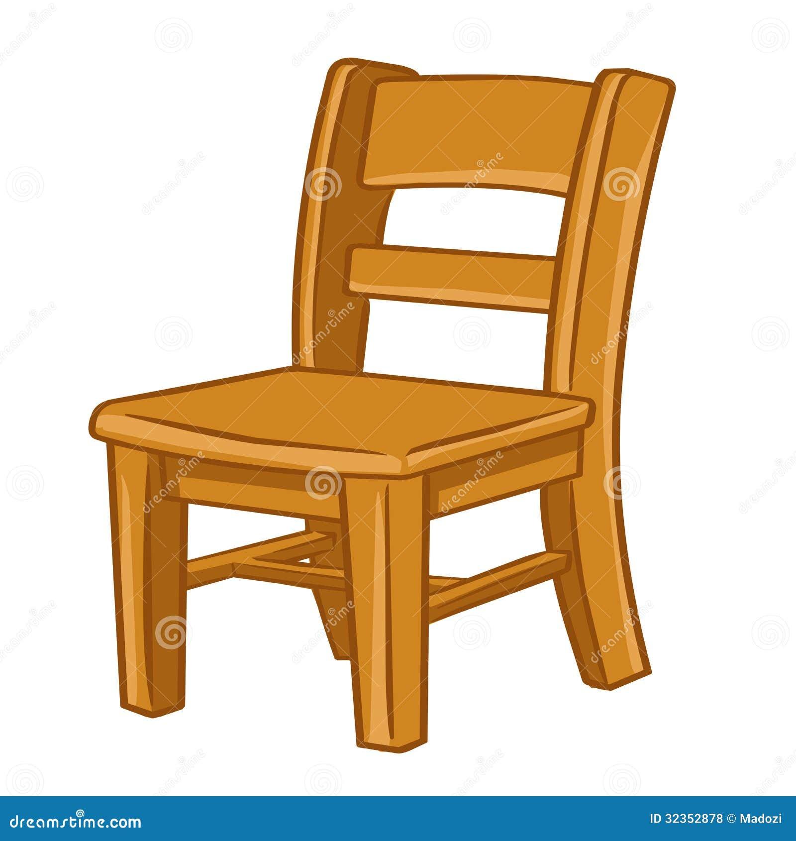Houten stoel ge soleerde illustratie vector illustratie afbeelding 32352878 - Houten plastic stoel ...