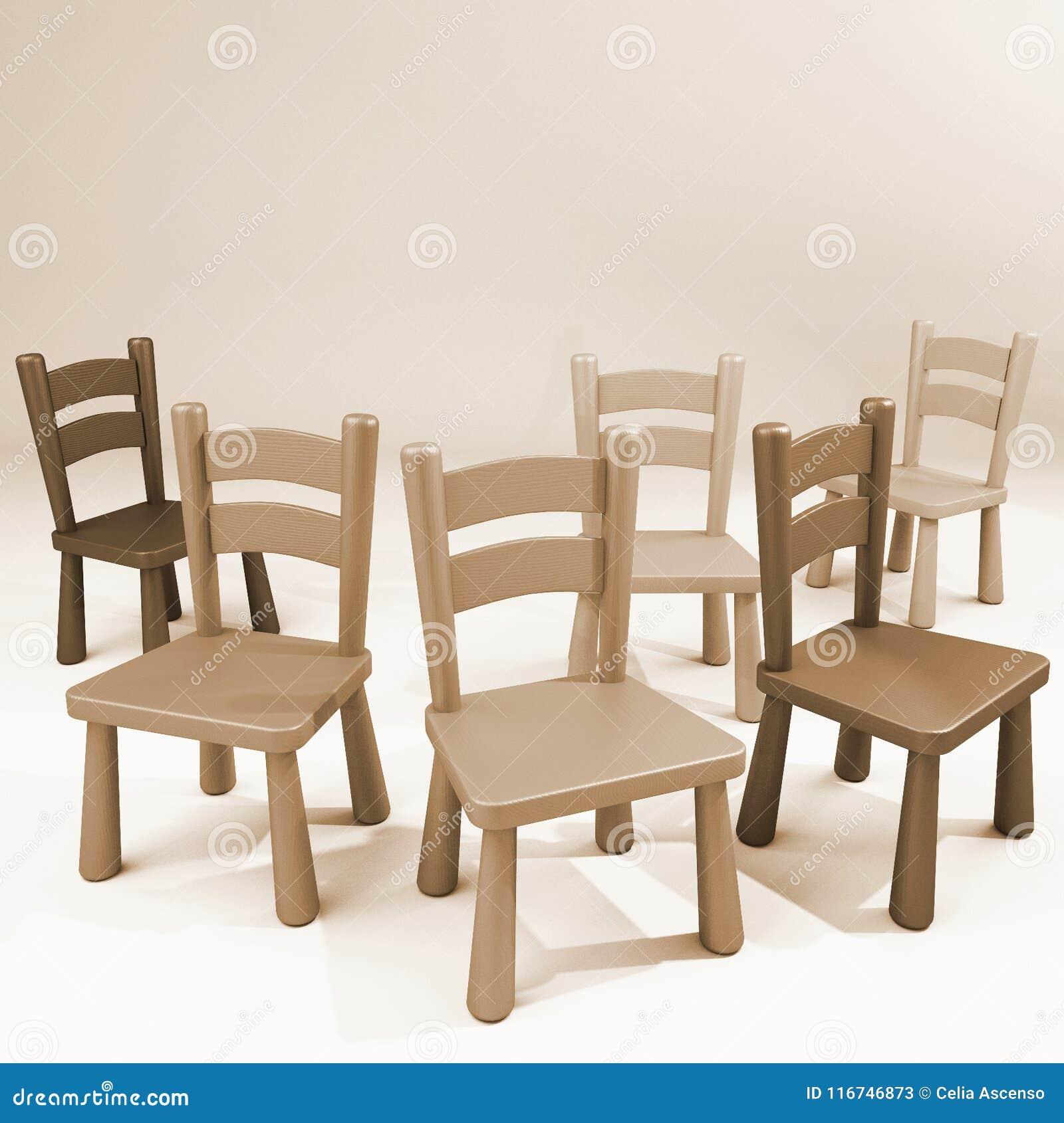 Houten stoelen lege ruimte