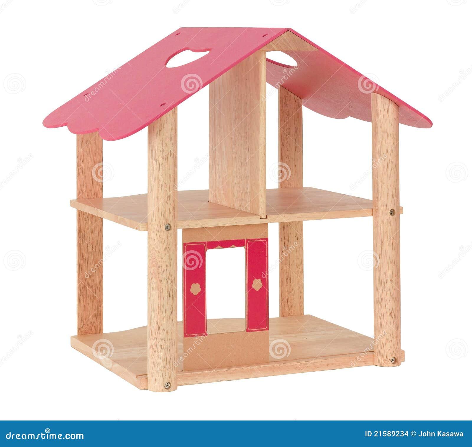 Houten stuk speelgoed poppenhuis stock afbeeldingen afbeelding 21589234 - Ruimte model kamer houten ...