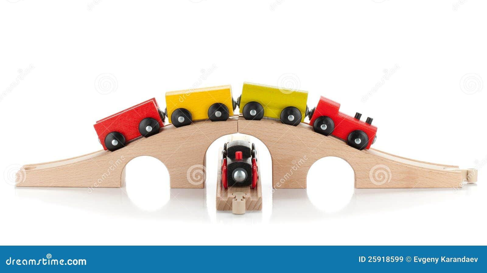 Houten Stuk Speelgoed Treinen Royalty-vrije Stock ...