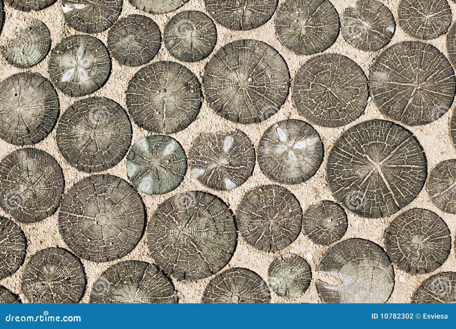 Houten textuur die op zand wordt gemaakt