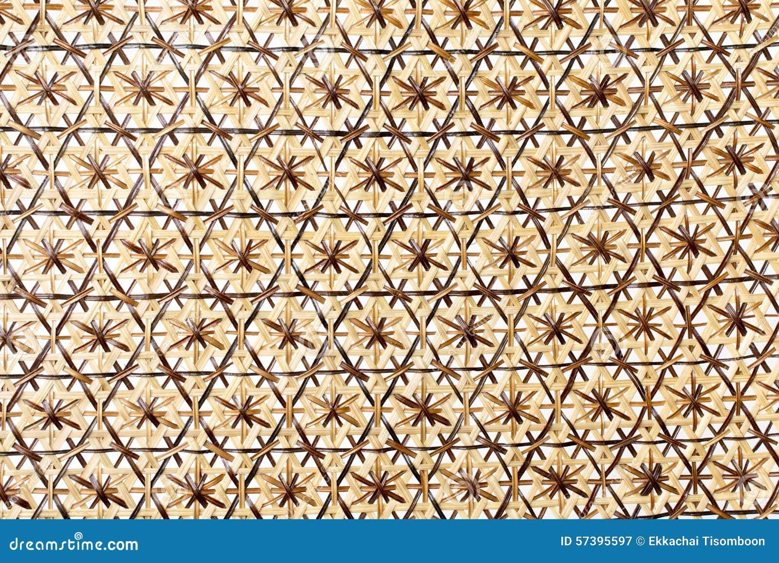 Houten textuur van rotan met natuurlijke patronen