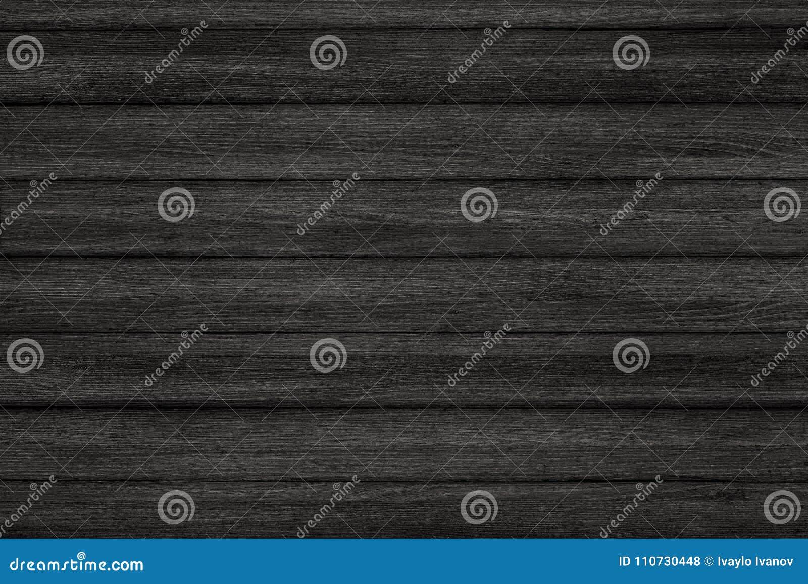 Houten textuurachtergrond de zwarte houten vloer van het muurerts
